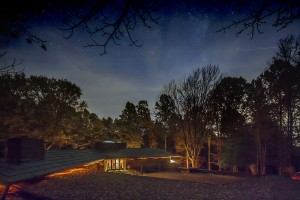Side view of Kentuck Knob at night